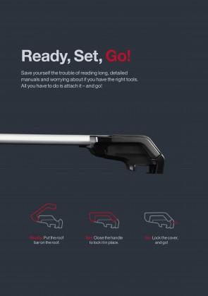 XPLORE kompletan nosač za vozila s integriranim uzdužnim nosačima na krovu